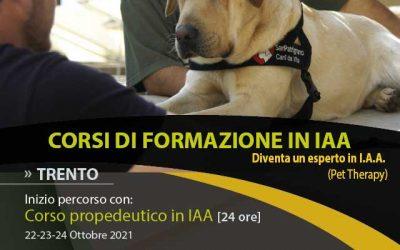 Corso Propedeutico in I.A.A. (Pet Therapy) 2021